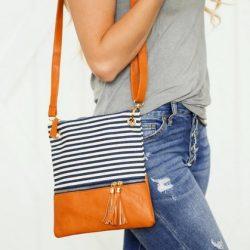 Trendy Stripes Crossbody Bag