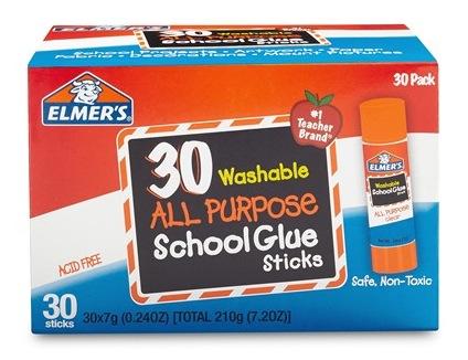 Elmer's All Purpose School Glue Sticks, Washable, 30 Pack