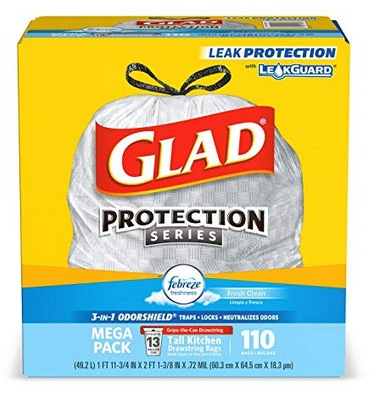 Glad Tall Kitchen Drawstring Trash Bags