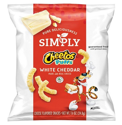 Simply Cheetos Puffs White Cheddar Cheese Flavored Snacks
