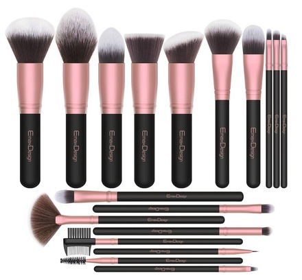 EmaxDesign 18-Piece Makeup Brush Set