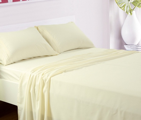 Deep Pocket Microfiber Bed Sheet 4-Piece Sets