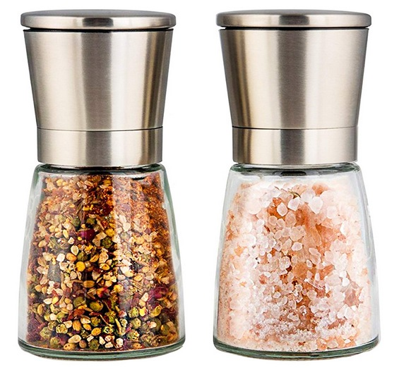 Stainless Steel Salt & Pepper Grinder Set Only $13.56
