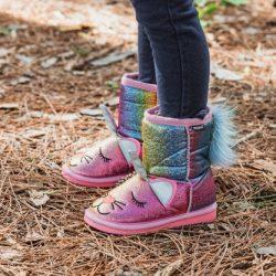 MUK LUKS ® Kid's Glitter Zoo Baby Boots