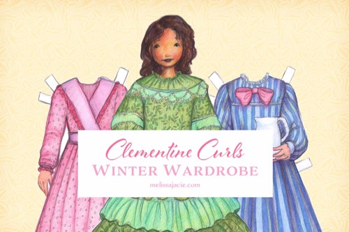 Paper Doll Winter Wardrobe