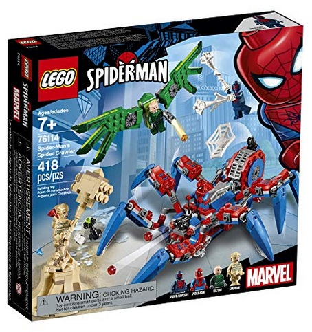 LEGO Marvel Spider-Man: Spider-Man's Spider Crawler 76114 Building Kit