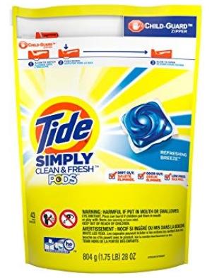 Tide Simply Clean & Fresh PODS Liquid Detergent Pacs
