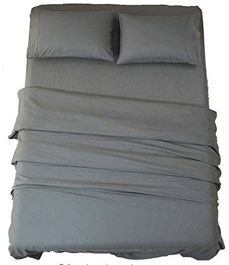 Sonoro 1800-Thread Count Luxury Egyptian 4-Piece Sheet Set only $20.82!