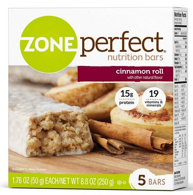 ZonePerfect Nutrition Snack Bars, Cinnamon Roll