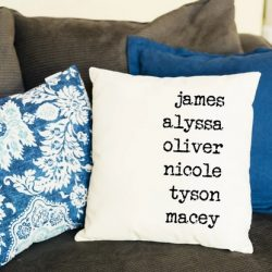 Personalized Family Names Pillow Cover