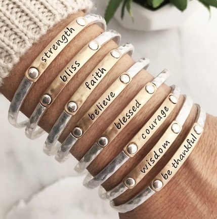 Inspiration Words Stacking Bangles