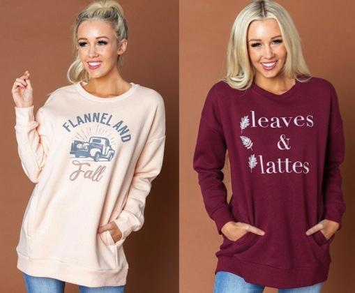 Fall Graphic Sweatshirts
