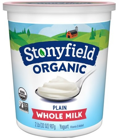 Stonyfield Organic Yogurt Quart