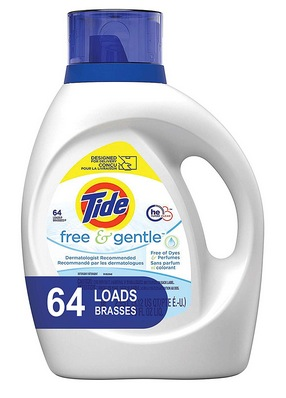 Tide Free and Gentle HE Laundry Detergent Liquid, 100 oz