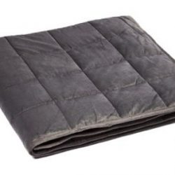 Gray Microplush Weighted Blanket