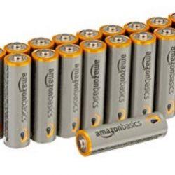 AmazonBasics AAA Alkaline Batteries 20-Pack - Only $4.22