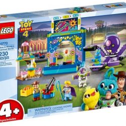 LEGO Disney Pixar's Buzz Lightyear & Woody's Colorful Carnival Mania Toy Story Building Playset