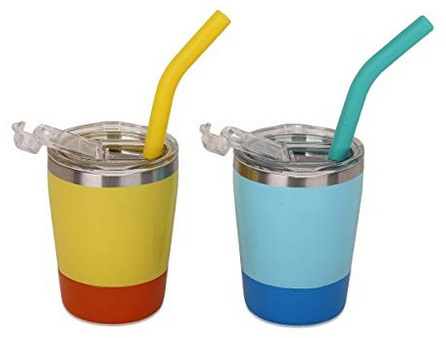 Colorful Straw Cups with Lids