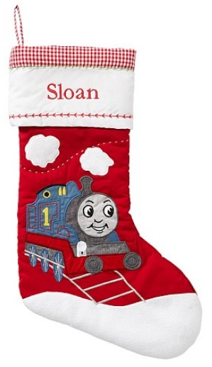 Pottery Barn Thomas The Train Quilted Stocking
