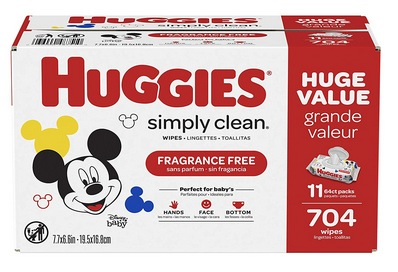 HUGGIES Simply Clean Fragrance-free Baby Wipes