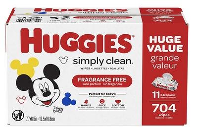 HUGGIES Simply Clean Fragrance-free Baby Wipes