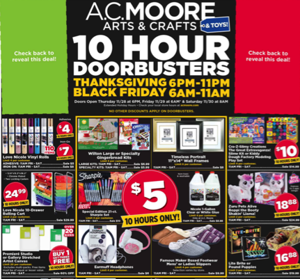 AC Moore Black Friday Ad