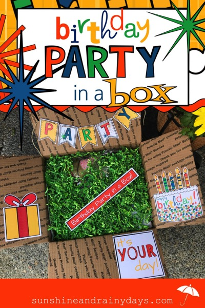 printables idea: Birthday Party In A Box