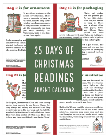 Christmas Reading Educational Advent Calendar