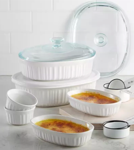 Corningware French White 10 Piece Bakeware Set For Just 17 99 Shipped Money Saving Mom