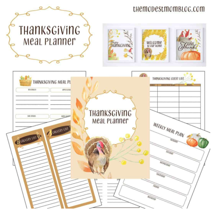 Free Thanksgiving Meal Planner