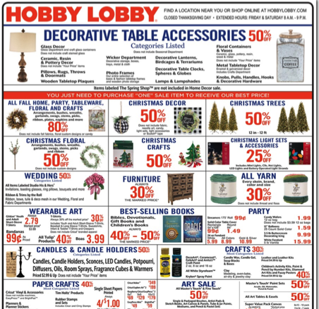 Hobby Lobby Black Friday Ad