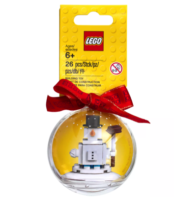LEGO Iconic Snowman Ornament Stocking Stuffer