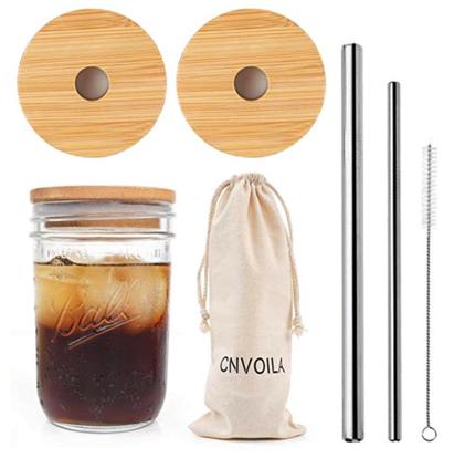 eco-friendly Christmas gifts: Mason Jar Lids and Straws