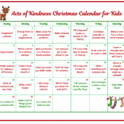 Random Acts of Kindness Christmas Calendar