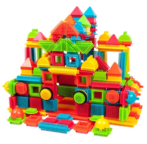 PicassoTiles 240-Piece Bristle Shape Blocks Set