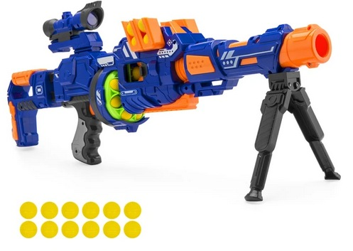 Electric Soft Foam Ball Long-Distance Blaster Toy w/ Barrel Extension