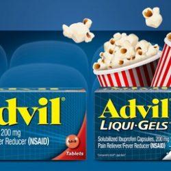 FREE $13 Fandango Movie Ticket w/ Advil Purchase