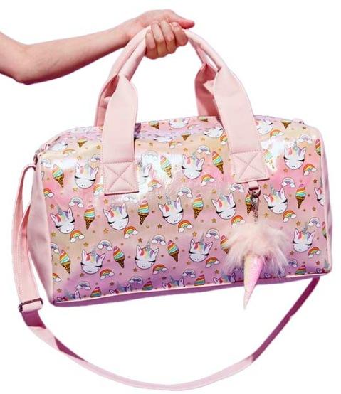 Pink Metallic Sweet Treats Gwen Duffel Bag