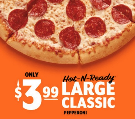 Hot-N-Ready Large Classic Pepperoni Pizzas JUST $3.99!