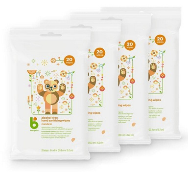 Babyganics Alcohol-Free Hand Sanitizer Wipes