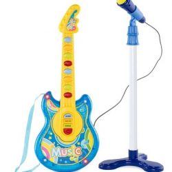 Kids Toddlers Musical Flash Guitar Pretend Play Toy w/ Mic