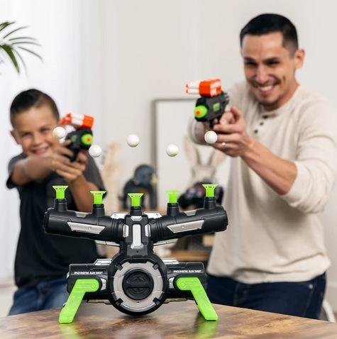 Glow-in-the-Dark Foam Dart Blasters & Target Set w/ 24 Darts