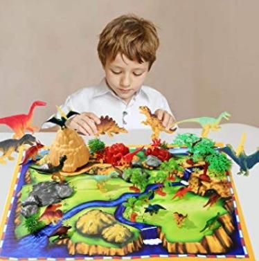 29 piece mat and dinosaur set