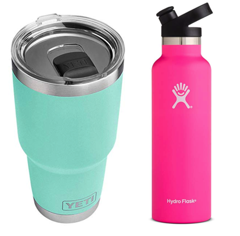YETI and Hydro Flask