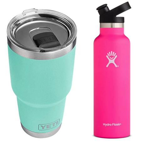 YETI and Hydro Flask