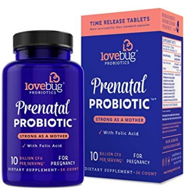 Lovebug Prenatal Probiotic Supplements 30-Count Only $13.74