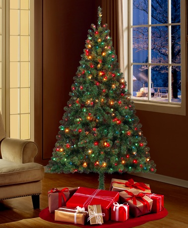 6.5′ Pre-Lit Christmas Tree Only $39 Shipped