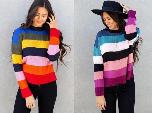 Amber Striped Sweater