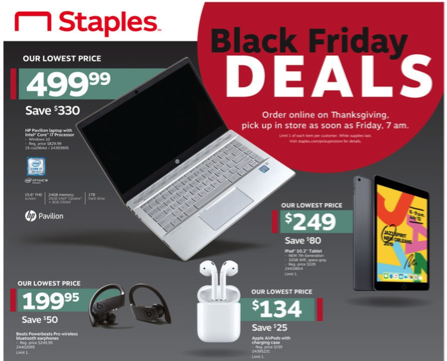 Staples Black Friday Ad