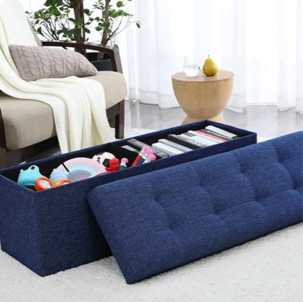 Pleasing Foldable Tufted Storage Ottoman For Just 49 99 Shipped Pabps2019 Chair Design Images Pabps2019Com